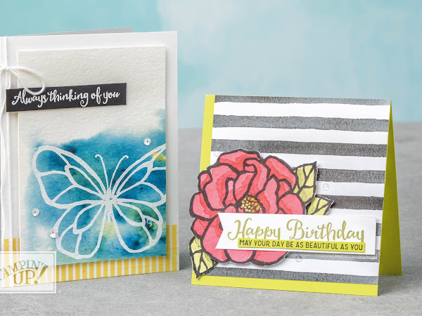 Stampin' Up! Watch It Wednesday Working With Brusho