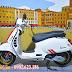 Mẫu sơn xe Vespa Sprint trắng phối cực đẹp