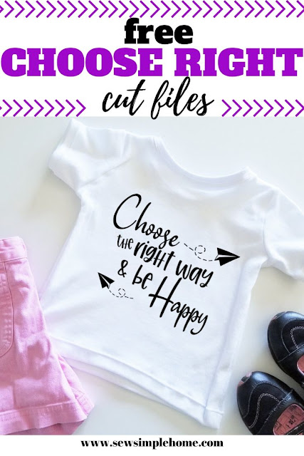 Enjoy this simple Choose the Right Way lds svg cut file for your Cricut, or Silhouette.