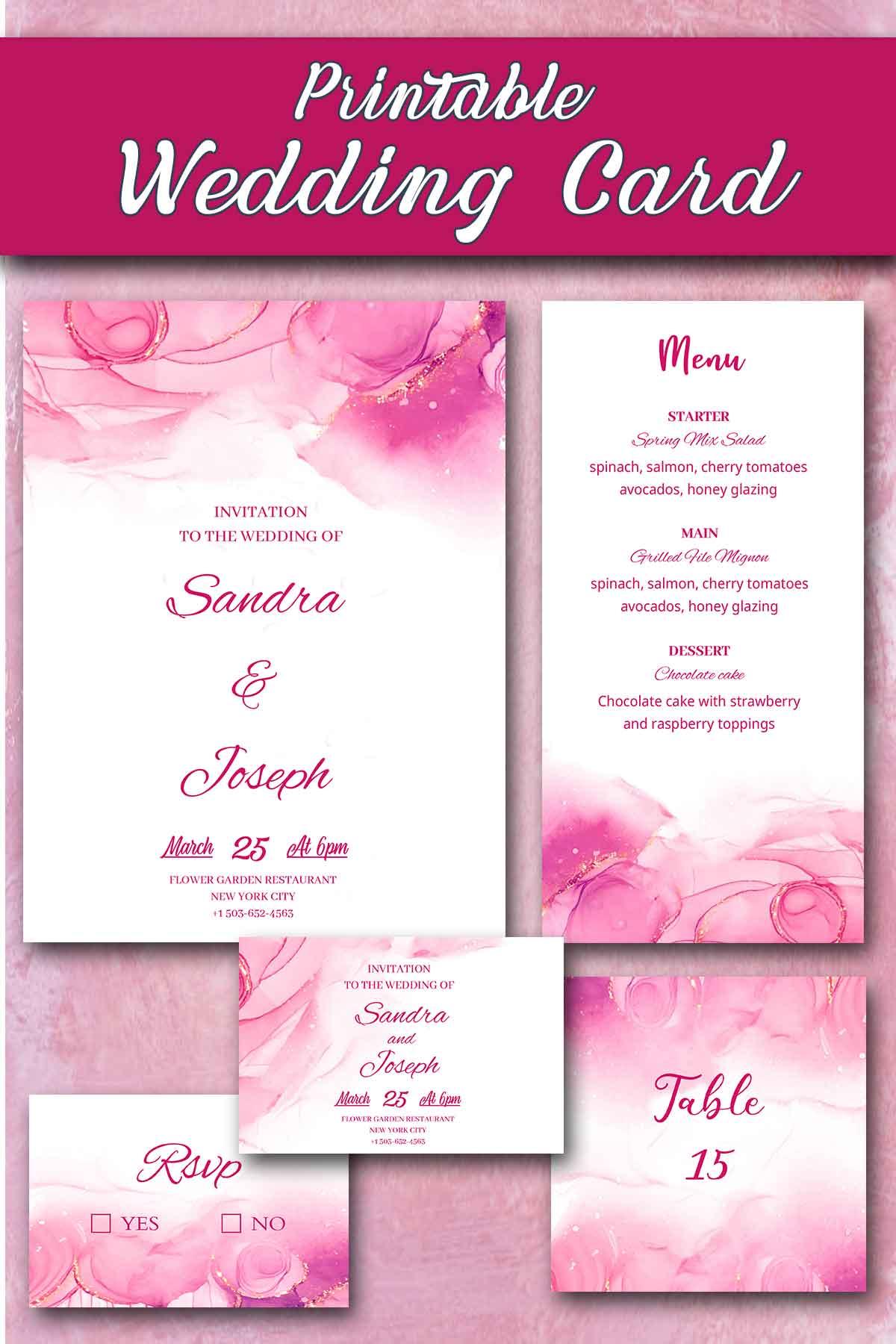 wedding invitation cards printable