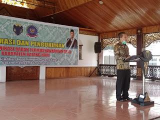 Bupati Batanghari Hadiri Deklarasi Dan Pengukuhan Forum Komunikasi Badan Pemusyawaratan Desa