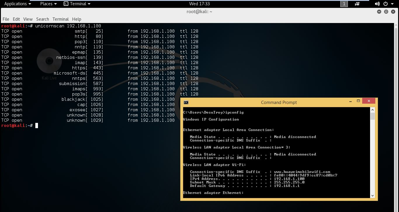 Windows command prompt nmap - To Ensure What I Get Is Same I Use Nmap And Compare The Result