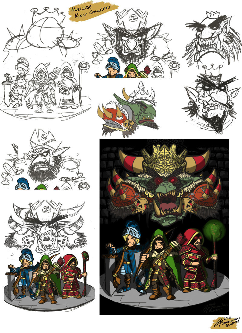 Dweller Roguelike Goblin King Concepts