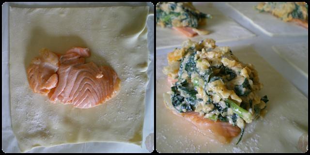 Salmón Wellington: relleno de salmón y espinacas