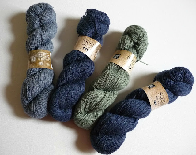 Blacker Samite 3-ply yarn