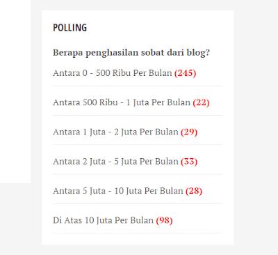 Polling dari Mas Sugeng