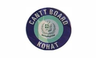 Cantonment Board Kohat Jobs 2021 in Pakistan