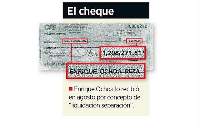 Renuncia Ochoa... y CFE lo liquida con mas de un millón de pesos.