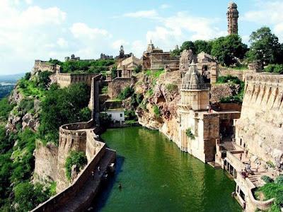 Gaumukh Reservoir at Chittorgarh Fort, heritageofindia, Indian Heritage, World Heritage Sites in India, Heritage of India, Heritage India