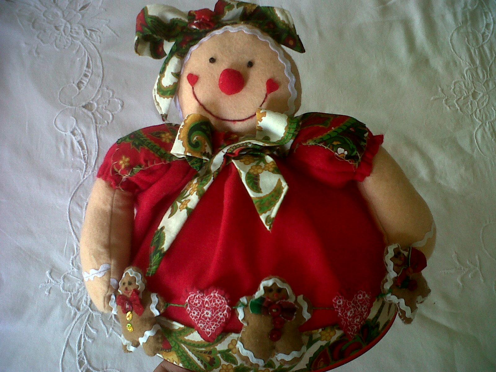 Adornos navide os galleta de jengibre elaborada en - Adornos navidenos tela ...