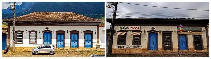 Residência de Catas Altas e Pizzaria e sorveteria de São Miguel: minissérie Se Eu Fechar os Olhos Agora. Foto do cenário: Marilane Batista/Ascom