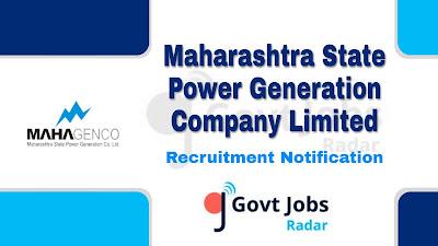 MAHAGENCO Recruitment Notification 2019, MAHAGENCO Recruitment 2019 Latest, govt jobs in Maharastra, Latest MAHAGENCO Recruitment update