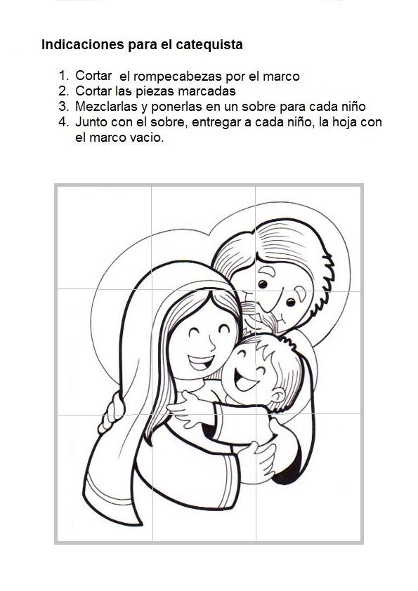 Imagenes Para Colorear De La Sagrada Familia De Nazaret