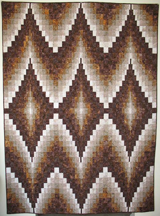 Double Diamonds Bargello Quilt Free Pattern