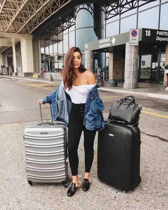 Inspirações de looks para aeroporto