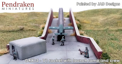 GRX13   V1 rocket with launch ramp and crew picture 2