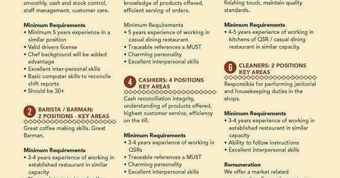 hospitality jobs in botswana 2017