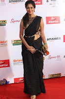 Sindhu looks fabulous in Black Saree designer choli at Mirchi Music Awards South 2017 ~  Exclusive Celebrities Galleries 070.JPG