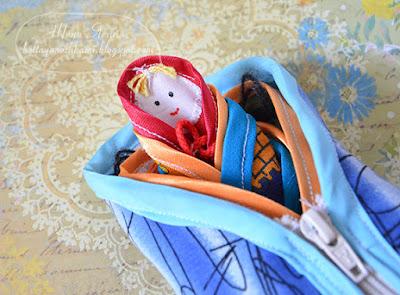матрешка из ткани, игрушки для мелкой моторики