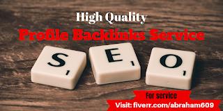 The best Profile Backlinks For Webranking - SEO
