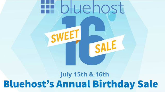 Bluehost birthday sale offers 2019