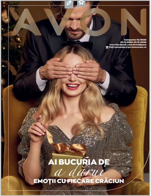 AVON Promotii + Catalog-Brosura  № 16 1-31.12 2020 →  AI BUCURIA DE  a darui  EMOTII CU FIECARE CRACIUN