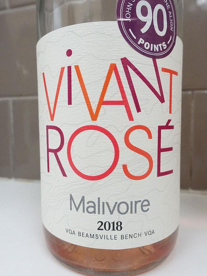 Malivoire Vivant Rosé 2018 (90 pts)