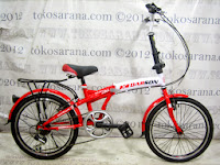 Sepeda Lipat Darson 20-2026 6 Speed 20 Inci