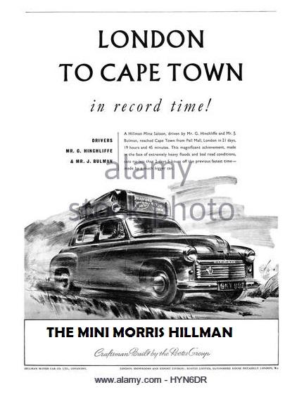 From the little Mini Morris Hillman to Hillman, Mix, Isuzu