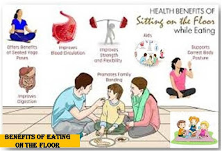 Benefits of Eating on The Floor,মেঝেতে বসে খাওয়ার উপকারিতা,Increases in Mobility in The Body, Improve Blood Circulation,Harmony improves,Depression in the body,Harts performance increases,Decreased levels of strokes,Increase,Exercise,Weight loss,