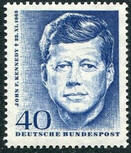 West Berlin 1964 President Kennedy 40pf