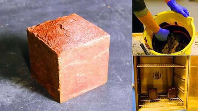 Jack Munro membuat batu bata berbahan  darah