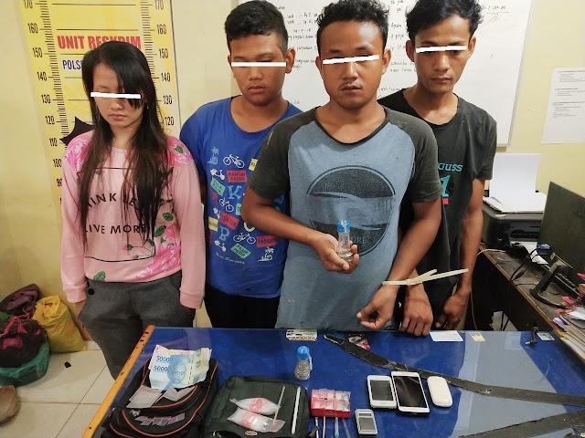 Transaksi Narkoba, 4 Tersangka Diringkus Polisi