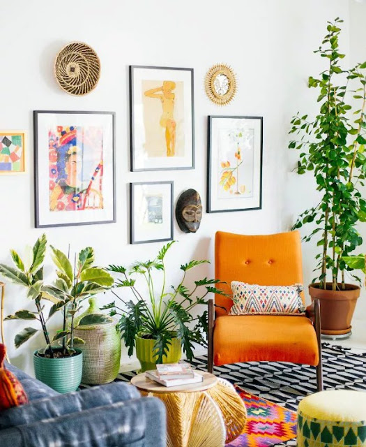 unique Hang Aart of bohemian décor living room