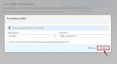 Pendaftaran AKG, AKK, AKP
