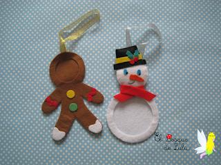 adorno-Navidad-árbol-fieltro-portafotos-elbosquedelulu-hechoamanoparati-felt-feltro-Natal