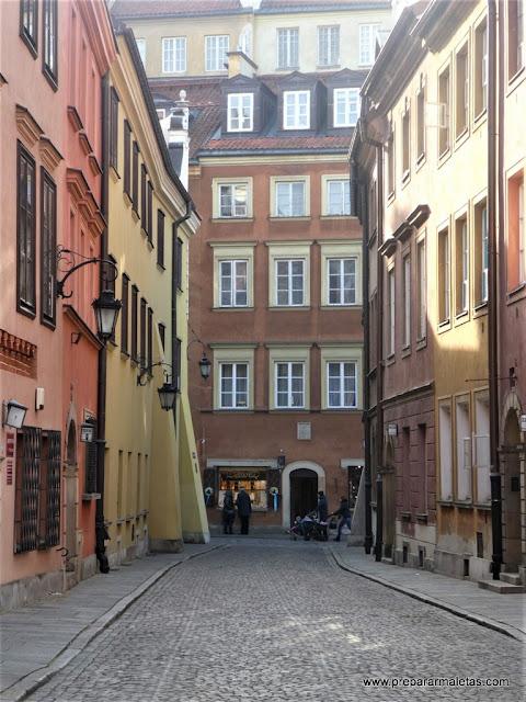 calles bonitas de Varsovia, casco antiguo