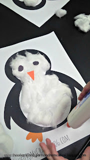Cotton Ball Penguin Craft