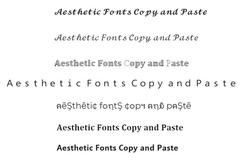 Aesthetic Fonts Copy and Paste