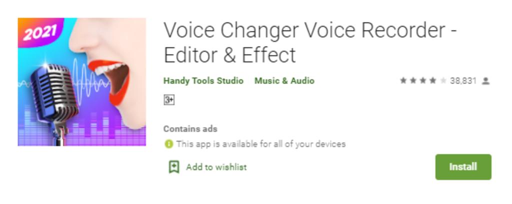 Voice Changer App by Handy Tools Studio
