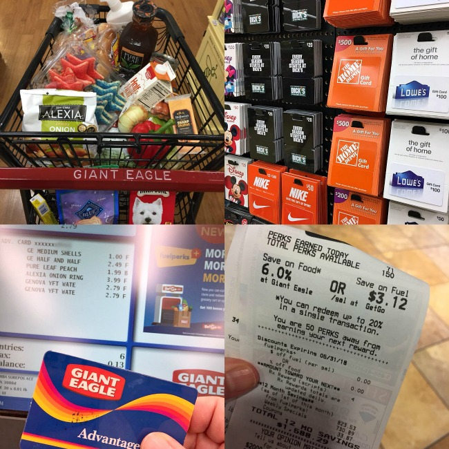 collage of photos from my shopping trip at Giant Eagle