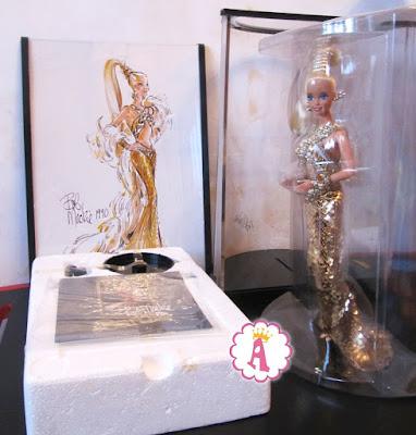 Барби с высоким конским хвостом в золотых пайетках от Боба Мэки