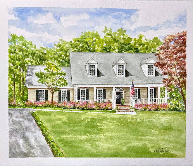 """Greenville Home (Watercolor 10""""x12"""") - sold"""