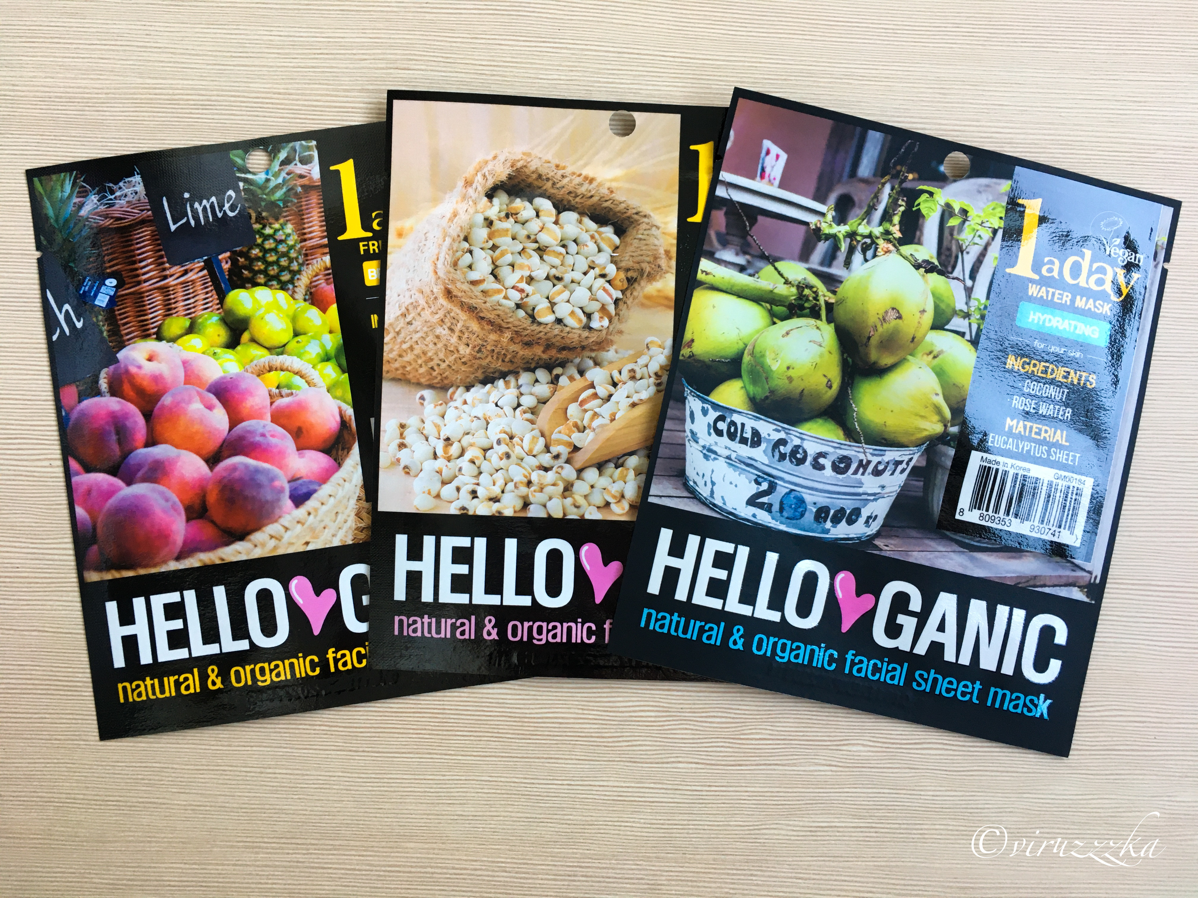 HELLO GANIC One a Day Sheet Mask Set Review