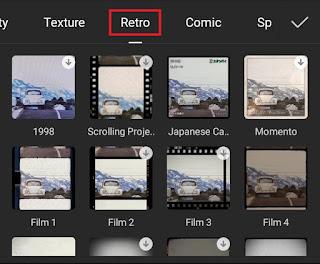 tap the retro capcut effect category