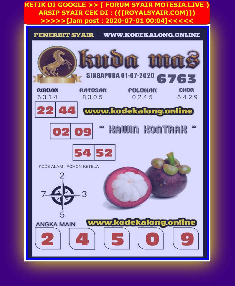 Kode syair Singapore Rabu 1 Juli 2020 219