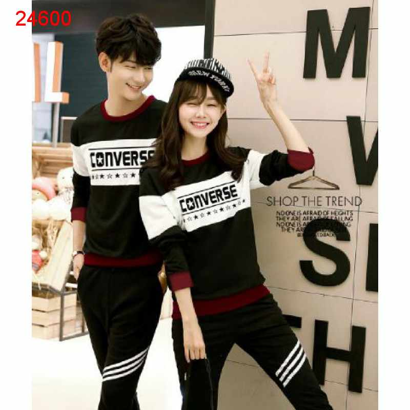 Jual Sweater Couple Sweater Converse Bold Black - 24600