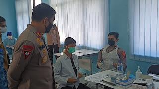 vaksinasi go to school kembali digelar Polda Banten di SMAN 2 Kota serang*