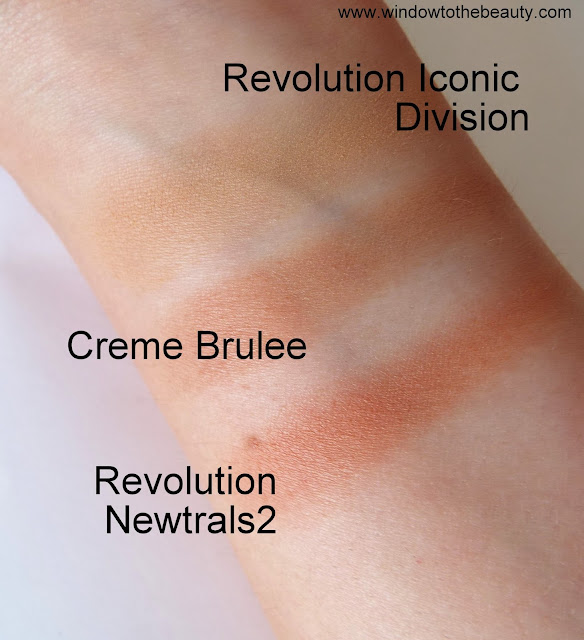 Makeup Geek Creme Brulee cheap dupes swatches