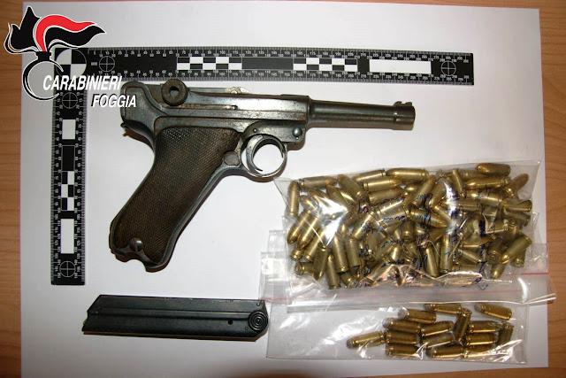 Deteneva pistola da guerra e hashish. Arrestato dai Carabinieri agricoltore di Orta Nova